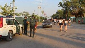Imagen de la Guardia Civil en las inmediaciones del Arenal Sound