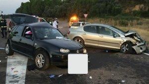 Imagen del accidente sucedido en Arenas de San Pedro, Ávila