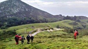 Imagen del operativo de rescate en Asturias