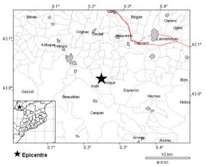 Imatge de la localització del terratrèmol