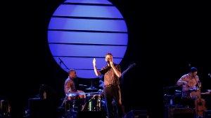Imatge del concert de Jorge Drexler, ahir dijous al FIM Cambrils