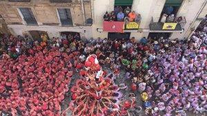 La diada castellera de la Festa Major de l'Arboç.