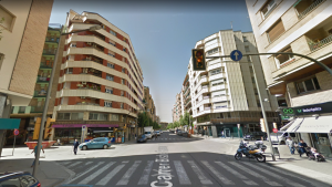 L'encreuament entre els carrers Vallcalent i Bisbe Ruano, el punt on va tenir lloc el succés