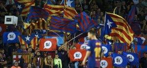 L'Espai d'Animació del Camp Nou, durant el partit davant l'Eibar.