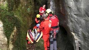 L'excursionista ha caigut de 10 metres d'altura