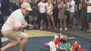 Monument a les víctimes de l'atemptat a les Rambles de Barcelona