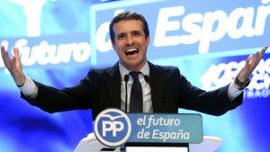 Pablo Casado, durant el congrés del Partit Popular