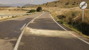 Punt exacte on aquest diumenge s'ha produït un accident amb tres morts a la C-14 a Balaguer