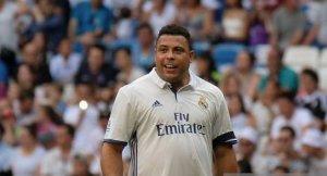 Ronaldo Nazario en un partido benéfico de veteranos del Real Madrid