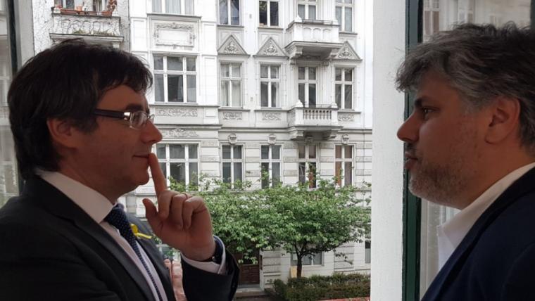 Carles Puigdemont i Albert Batet a Berlín.