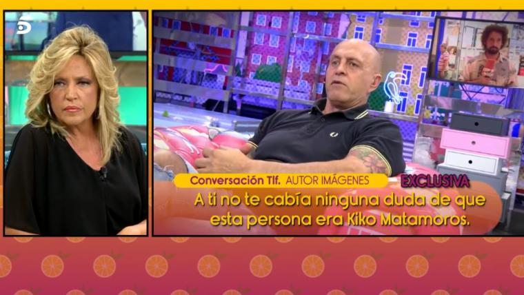 En 'Sálvame' hablan con el autor del vídeo en el que pillan a Kiko Matamoros con una chica.