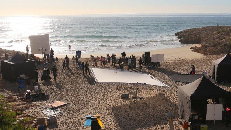 Rodatge de l'anunci a la platja dels Capellans