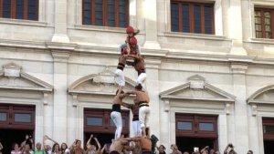 3de9 amb folre dels Xiquets de Reus descarregat a la diada de Misericòrdia