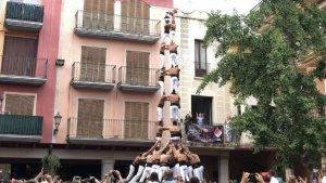 3de9f carregat dels Xiquets de Reus a la festa major de Cambrils
