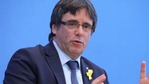 Carles Puigdemont durant la roda de premsa