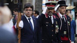 Carles Puigdemont i Trapero, en una recepció oficial