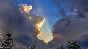 El núvol de tempesta d'Osona des de Moià