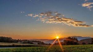 Esplèndida posta de sol sobre el Montseny