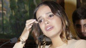 Gloria Camila en la entrega de los premios.