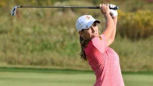 Imagen de la golfista cántabra Celia Barquín Arozamena