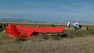 Imagen del accidente de avioneta.