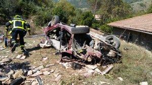 Imagen del accidente de tráfico en Ubrique