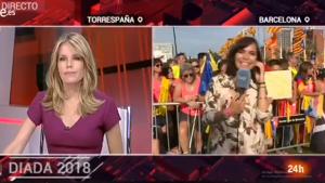 Imatge de la retransmissió de TVE