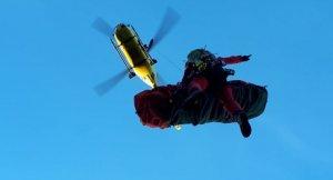 Imatge de l'evacuació en helicòpter