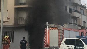Imatge de l'incendi al bar