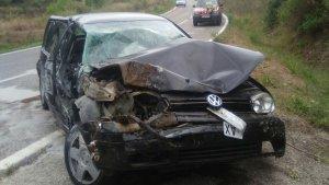 Imatge del vehicle, després de l'accident