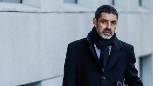 Josep Lluís Trapero, a l'entrada de l'Audiència Nacional el passat febrer