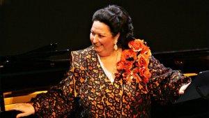 La soprano Montserrat Caballé durant una actuació al Liceu de Barcelona