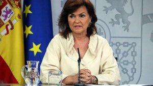 La vicepresidenta del Govern central, Carmen Calvoº