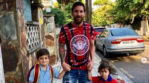 Leo Messi i els seus fills