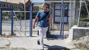 Mikel, en una visita a su hermano Iñaki Urdangarín, durante el mes de julio