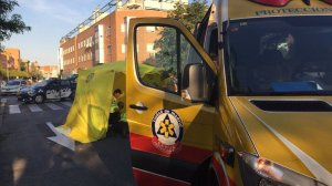 Sanitarios del SAMUR-PC de Madrid