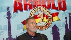Schwarzenegger durant el seu acte a Barcelona