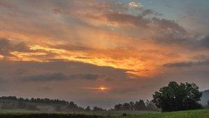 Un matí més, cel força ennuvolat a primeres hores del matí
