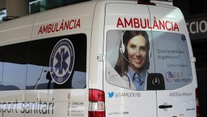 Un motorista herido tras impactar contra un vehículo en Ibiza