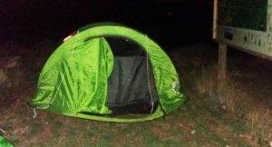 Una altra acampada il·legal