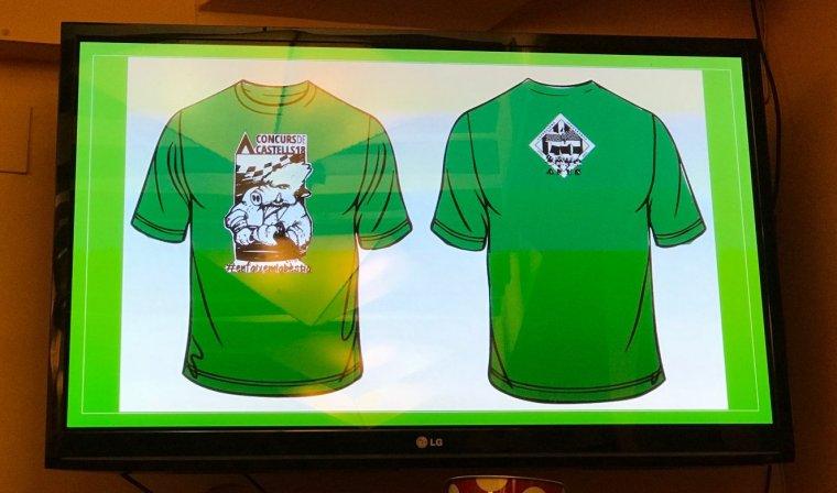 La samarreta especial dels Castellers de Cerdanyola pel 27è Concurs de Castells