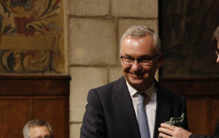 L'oncòleg Josep Baselga amb el president Josep Puigdemont
