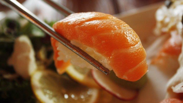 Un nigiri de salmó