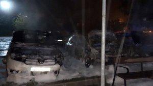 Així han quedat els cotxes després de l'incendi a Capelles, a l'Anoia