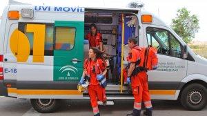 Ambulancia de la Empresa Pública de Emergencias Sanitarias (EPES)