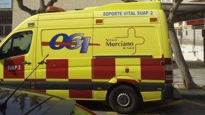 Los servicios sanitarios llevaron a la víctima del atropello al hospital para descartar lesiones internas