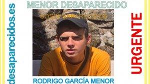 Buscan a Rodrigo García, un menor de 16 años desaparecido en Madrid