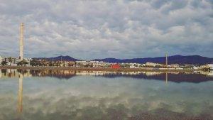 Campos anegados de agua por la lluvia del temporal, cerca de Málaga