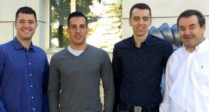 D'esquerra a dreta: Teixidó, Estrada, Expósito i Solsona