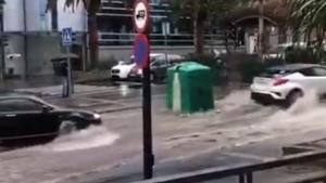 El aguacero ha dejado imágenes sorprendentes en Tenerife
